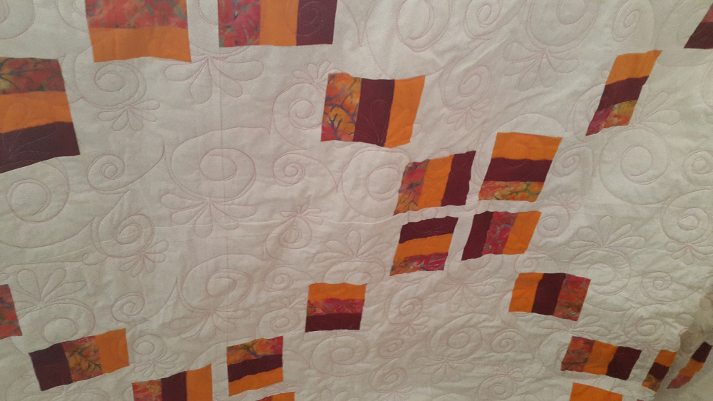 You don't always have to use a blended thread when quilting