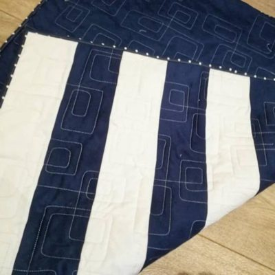 Beautiful Nautical Quilt with Yacht Applique
