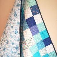 Blues and Blues! Baby Quilt