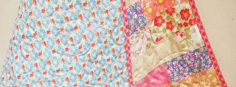 Designer Fabric Floral Baby Quilt