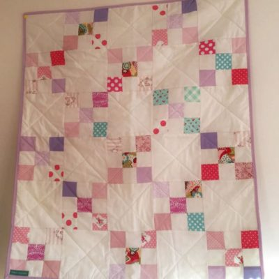 Girly Modern Irish Chain Quilt