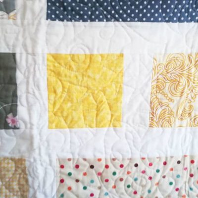 Grey and Yellow Baby Quilt