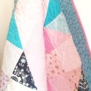 Love Heart Shaped Baby Quilt