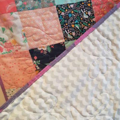 Modern Print Patchwork Unisex Baby Quilt